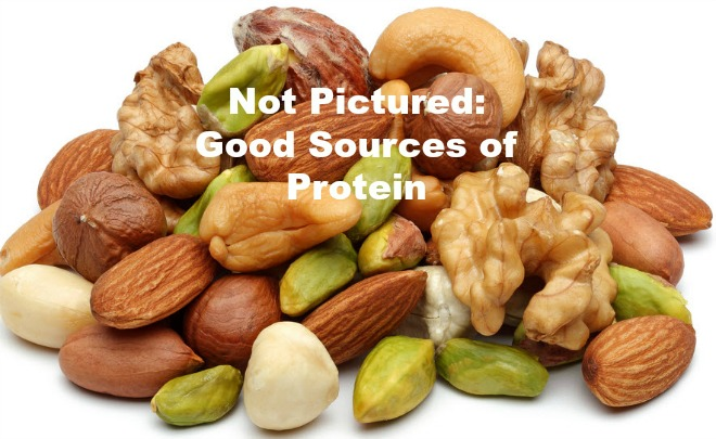 Not Good Sources of Protein - Nuts
