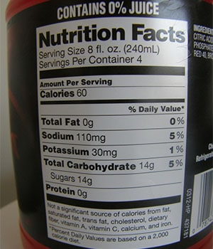 Learning to Read the Macros on a Nutrition Label