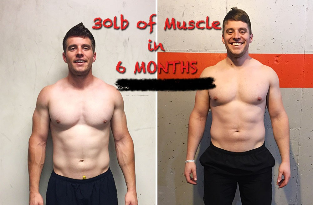 How I Gained 30lb of Muscle in Just 6 Months