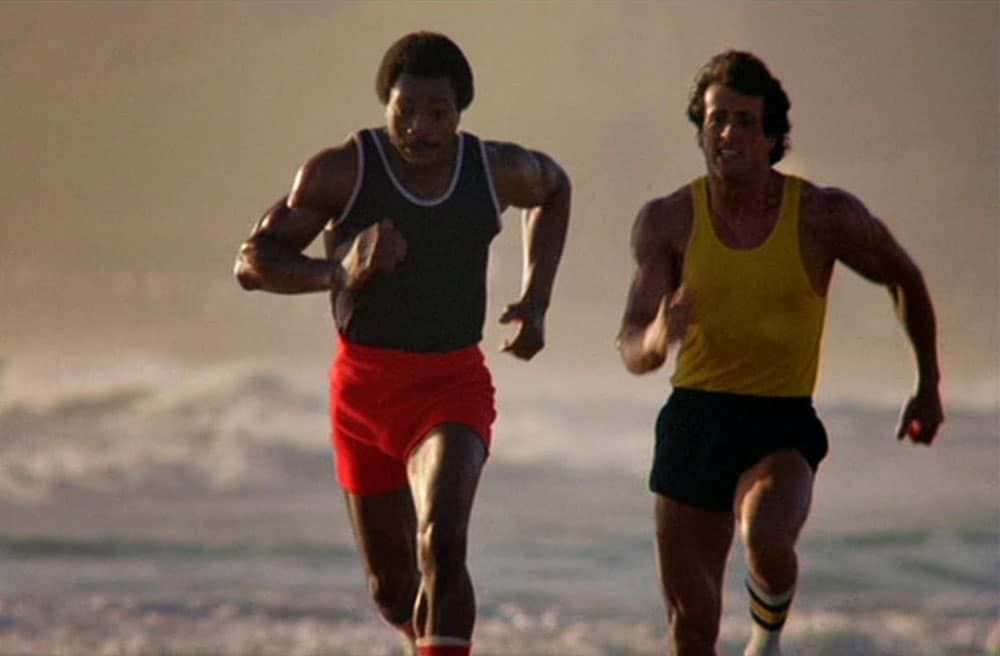 Rocky and Creed Sprinting on the Beach